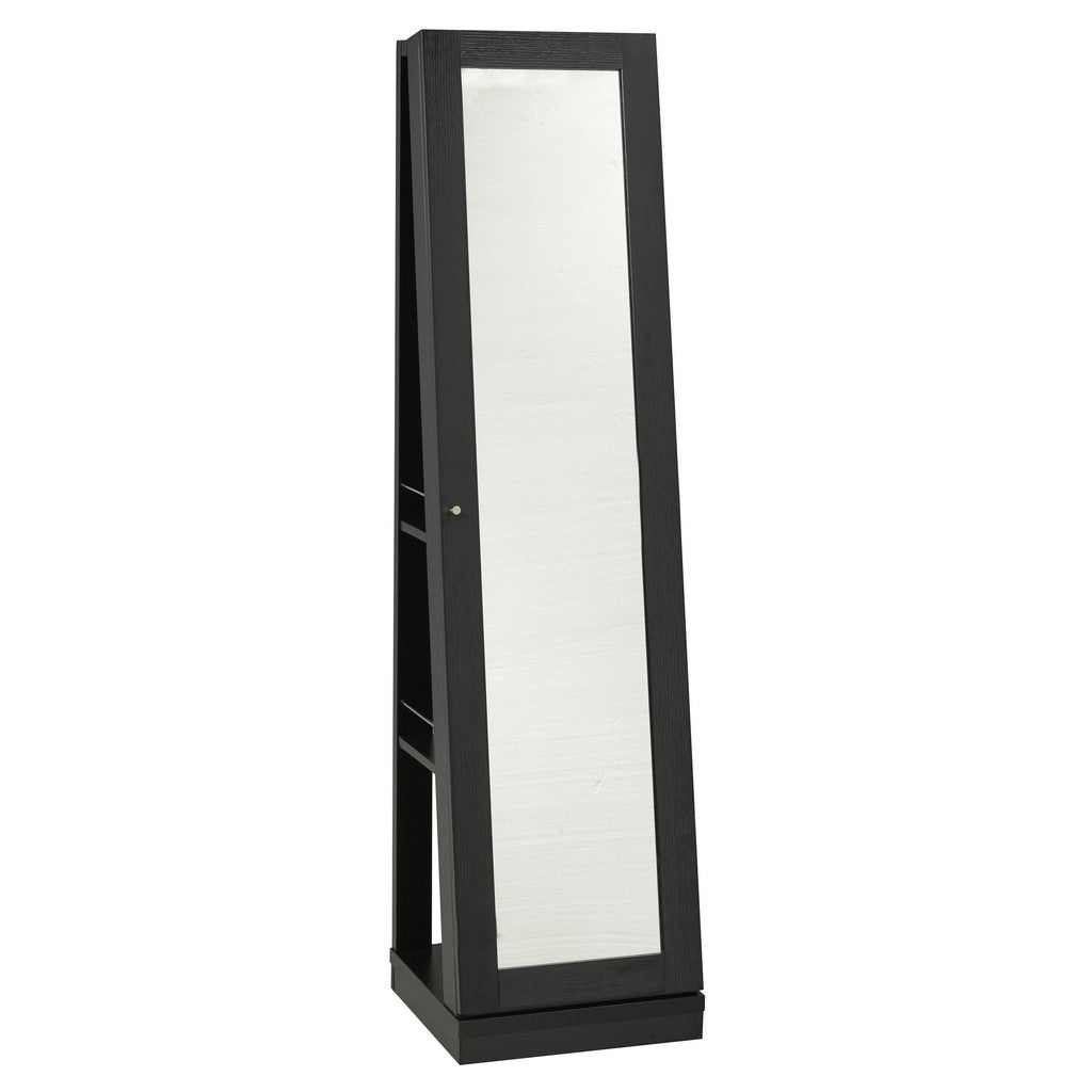Salvador Jewelry Mirror with Castors (Black) | Candace and Basil Furniture