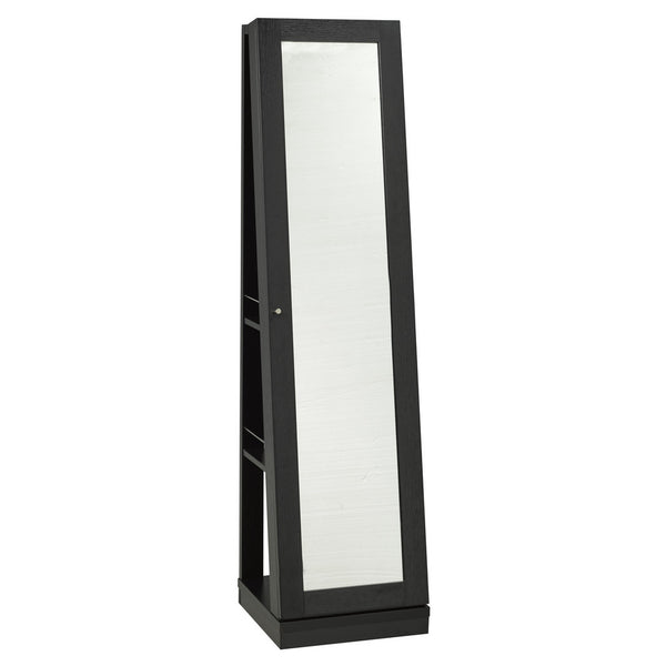 Candace & Basil Furniture |  Salvador Jewelry Mirror with Castors (Black)