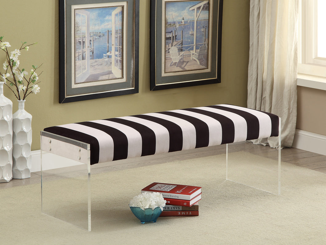 Tessa Bench - White & Black