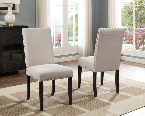 Candace & Basil Furniture |  Avery Side Chairs (Set of 2) - Beige