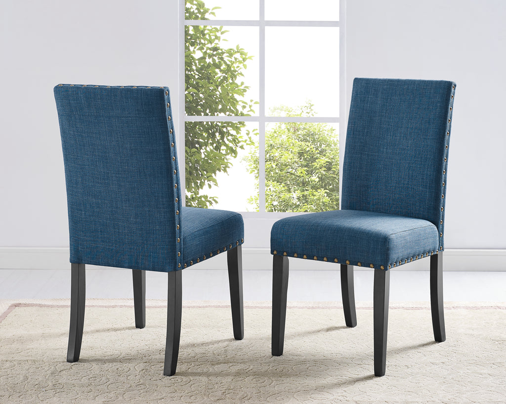 Avery Side Chairs (Set of 2) - Blue | Candace and Basil Furniture