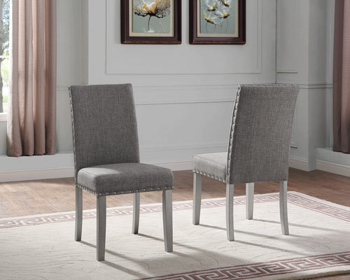Bella Side Chair (Set of 2) - Grey | Candace and Basil Furniture