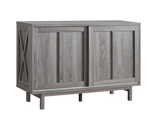 Server w Sliding Doors - Grey | Candace and Basil Furniture