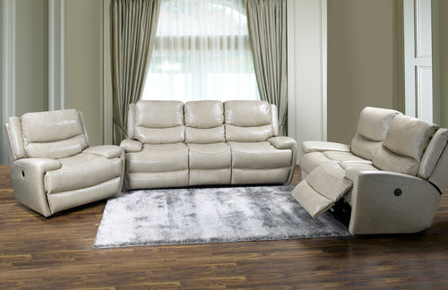 Myla Reclining Sofa Series - Taupe Leather