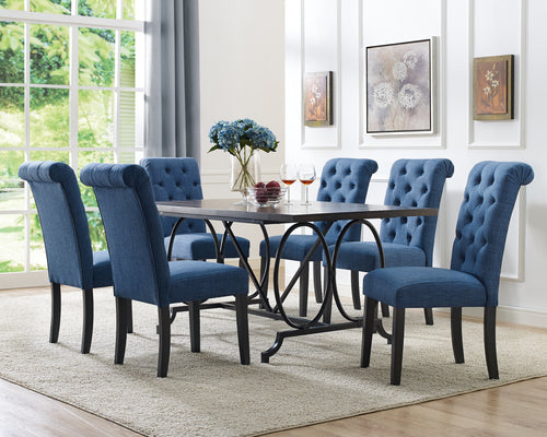 Candace & Basil Furniture |  Tinga 7pc Dining Set - Blue