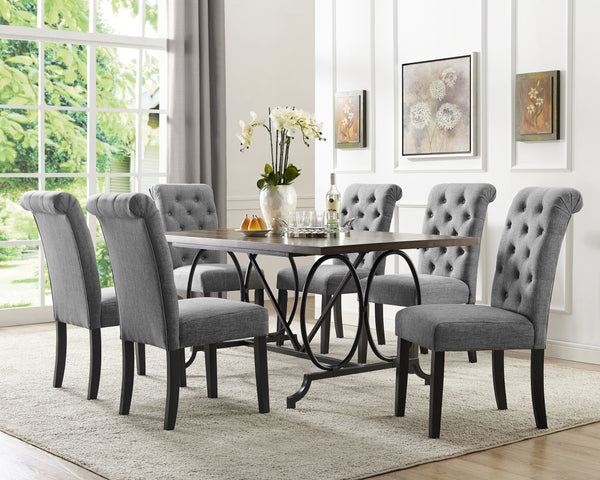 Candace & Basil Furniture |  Tinga 7pc Dining Set - Grey
