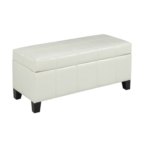 Zara Bench w. Storage (White) | Candace and Basil Furniture