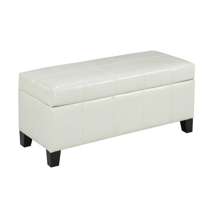 Candace & Basil Furniture |  Zara Bench w. Storage (White)