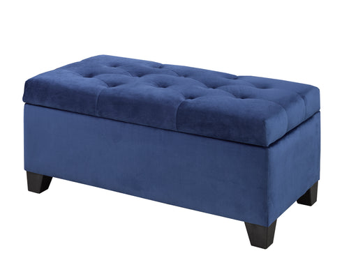 Ellis Storage Bench - Blue Velvet | Candace and Basil Furniture