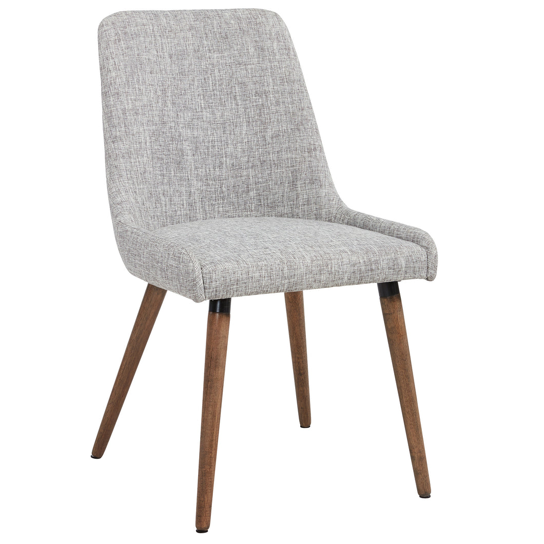 Mia - Side Chair - Light Grey/Grey Leg (Set of 2)