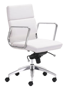 Low Back Office Chair White