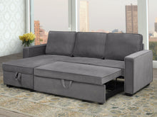 Load image into Gallery viewer, Milo Configurable LHF/RHF Sleeper Sectional - Grey Velvet