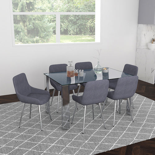 Frankfurt/Cassidy Gy - 7PC Dining Set