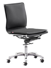 Load image into Gallery viewer, Armless Office Chair Black