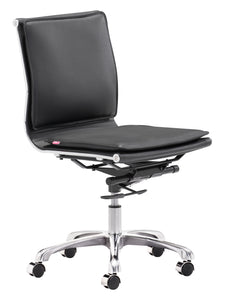 Armless Office Chair Black