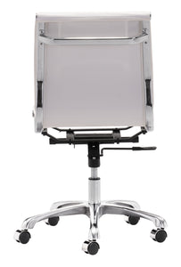 Armless Office Chair White