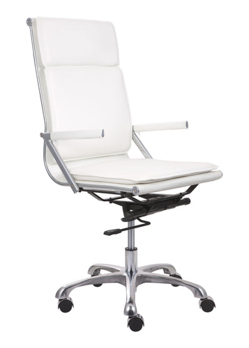Hi Back Office Chair White