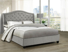 Load image into Gallery viewer, Venice Platform King Bed - Grey Linen | Candace and Basil Furniture