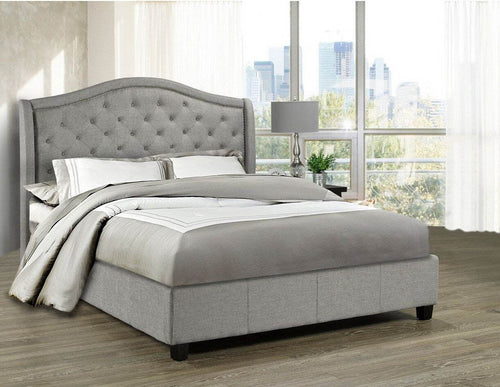 Venice Platform King Bed - Grey Linen | Candace and Basil Furniture