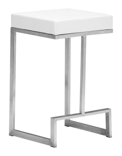 Counter Stool White (Set of 2)