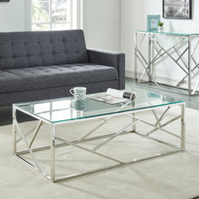 Load image into Gallery viewer, Juniper Coffee Table - Silver Stainless Steel/Glass