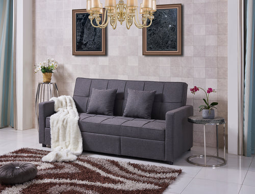 Jude RHF Sleeper Sectional - Grey
