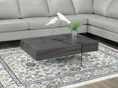 Coffee Table w/ Storage - Grey | Candace and Basil Furniture