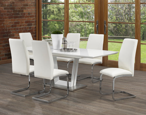 Bliss 7PC Dining Set - White