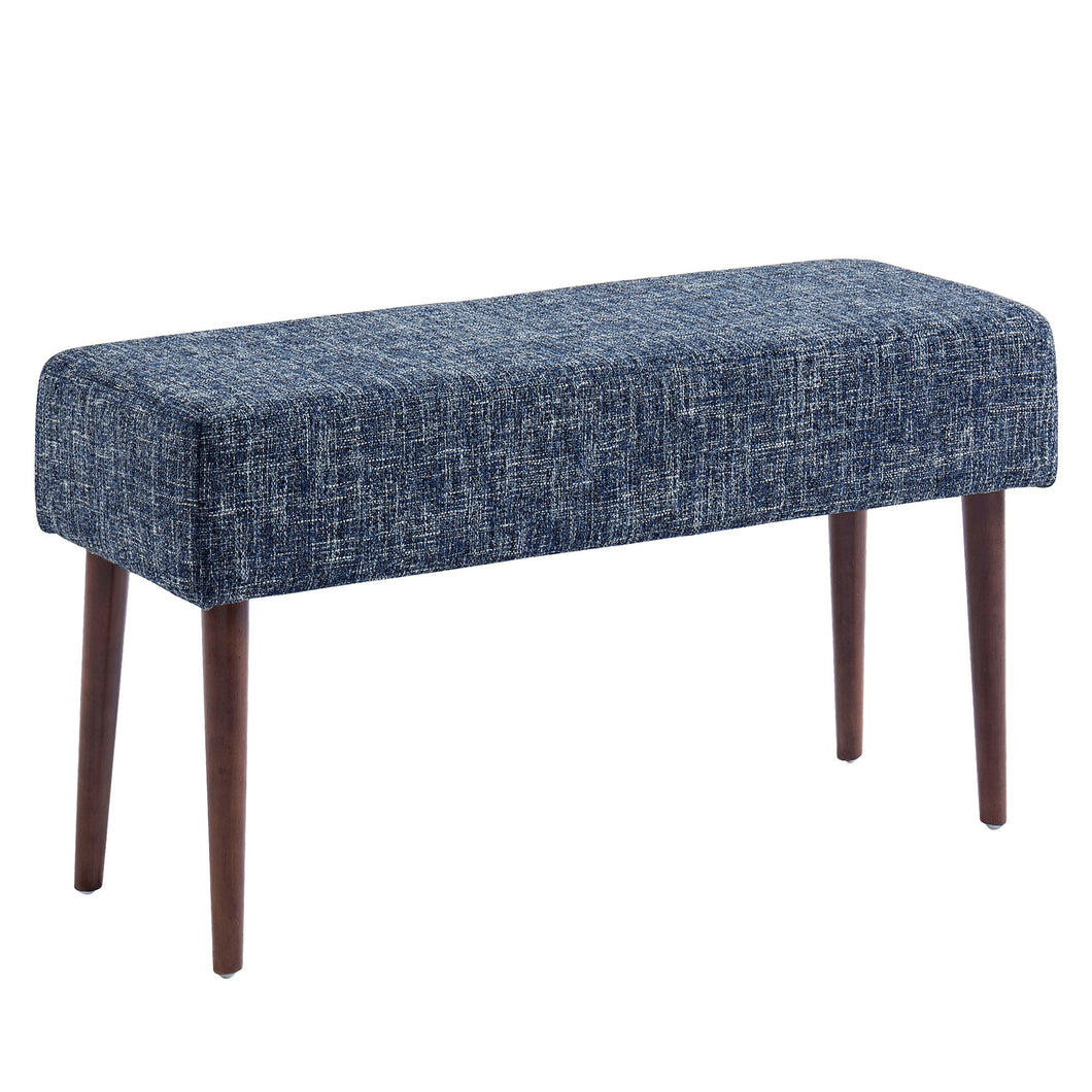 Minto Bench - Blue Blend Fabric/Wood