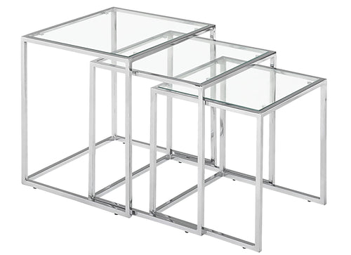 Nesting Table Clear Glass