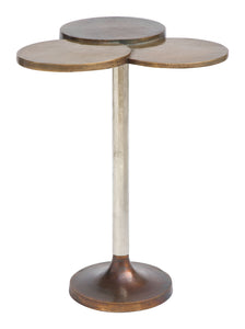 Accent Table Antique Brass