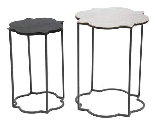Accent Table Black & White