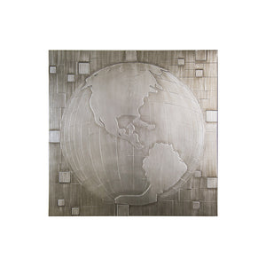 "Silver Map (Right) - 36"" x 36"""
