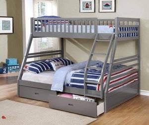 Elliott Twin/Full Storage Bunk Bed - Grey