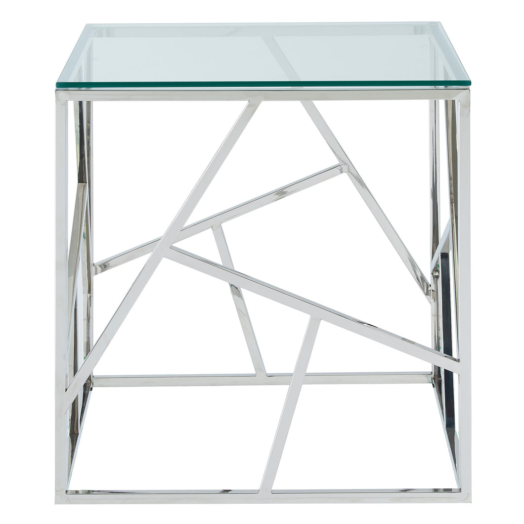 Juniper End Table in Silver