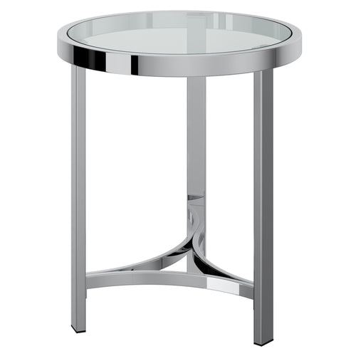 Strata - Accent Table - Chrome