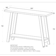 Load image into Gallery viewer, Volsa - Console Table - Reclaimed