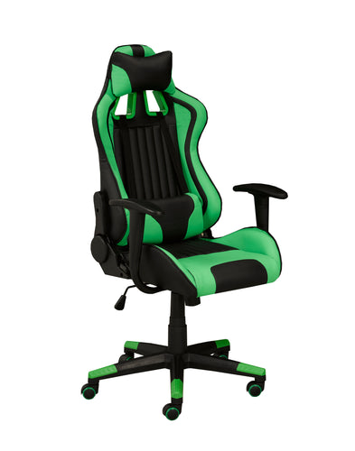 Avion Gaming Chair w/ Tilt - Green | Candace and Basil Furniture