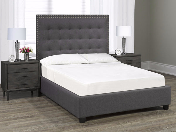 Aberdeen Platform King Bed - Dark Grey Linen