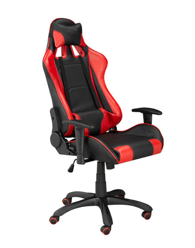 Fresno Gaming Chair w/ Tilt - Red | Candace and Basil Furniture