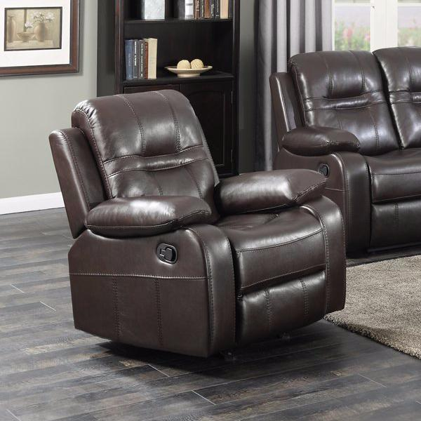 Napolean Recliner Chair - Brown Leather-aire | Candace and Basil Furniture