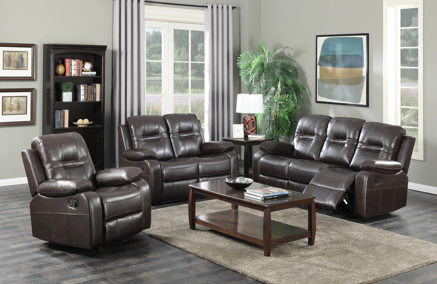Napolean Recliner Series - Brown