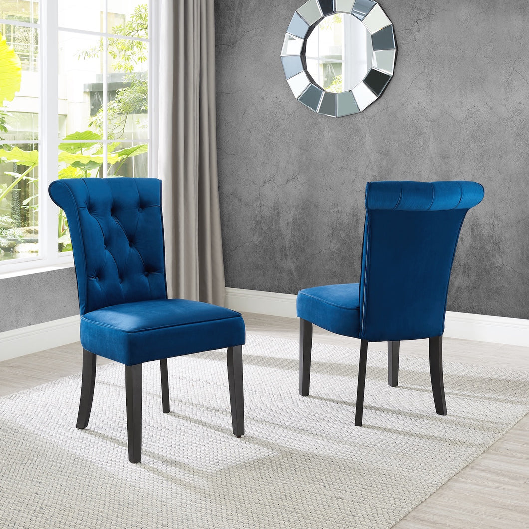 Frances Dining Chair (Set of 2) - Blue Velvet (OPEN BOX ITEM)