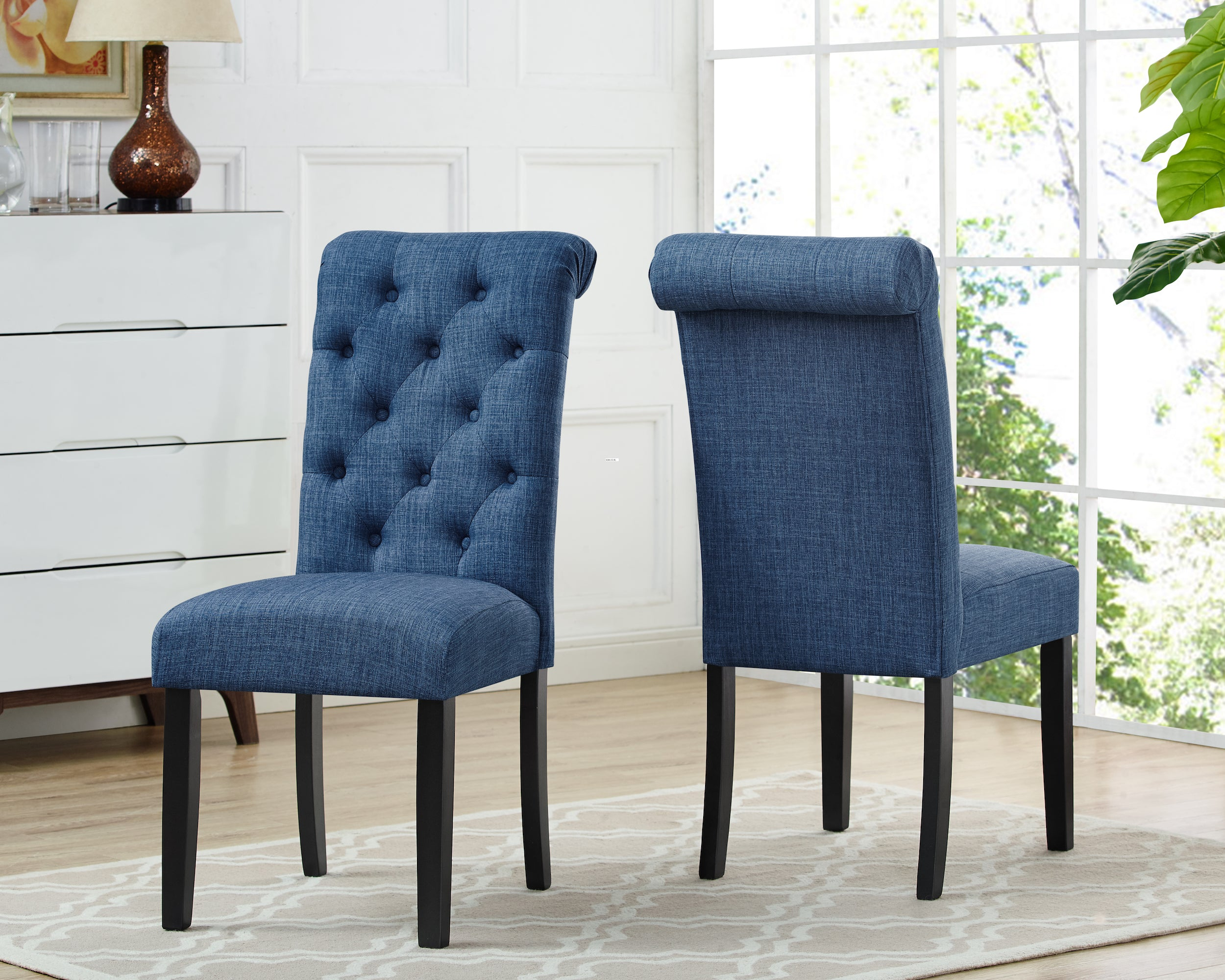 Tinga Dining Chairs (Set of 2) - Blue | Candace and Basil Furniture