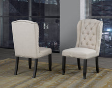 Load image into Gallery viewer, Tinga Captain Dining Chair (Set of 2) - Beige Linen | Candace and Basil Furniture