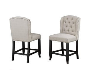Tinga Captain Counter Chair (Set of 2) - Beige Linen