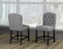 Load image into Gallery viewer, Tinga Captain Counter Chair (Set of 2) - Grey Linen | Candace and Basil Furniture
