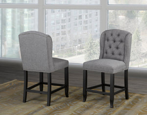Tinga Captain Counter Chair (Set of 2) - Grey Linen | Candace and Basil Furniture