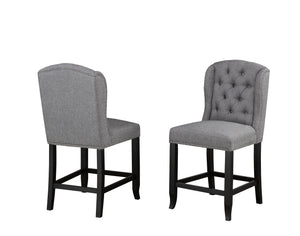 Tinga Captain Counter Chair (Set of 2) - Grey Linen