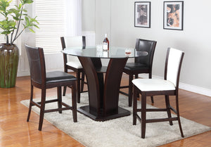 Ambrose 5PC Pub Set - Espresso (White or Black Chairs) | Candace and Basil Furniture